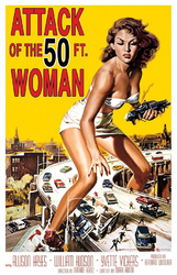 50 FT WOMAN MOVIE POSTER CLING