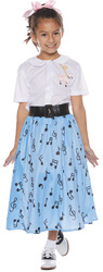 50\'S SKIRT SET CHILD MED 6-8