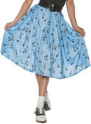 50\'S MUSICAL NOTE SKIRT AD MD
