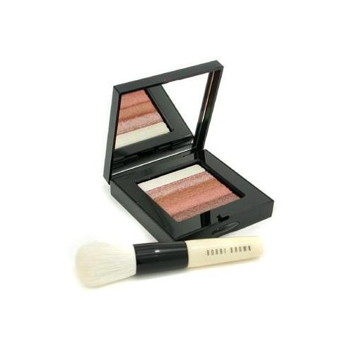 Bronze Shimmer Brick Set: Bronze Shimmer Brick Compact + Mini Face Blender Brush (Limited Edition) 2pcs