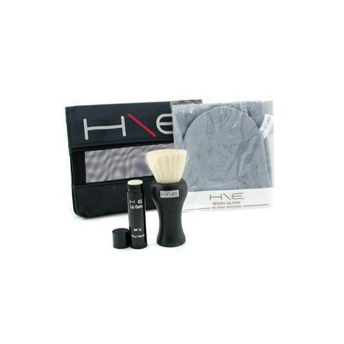 H\E Minerals Kit: Lip Balm SPF 15 + Facial Brush + Wash Glove + Bag  3pcs+1bag