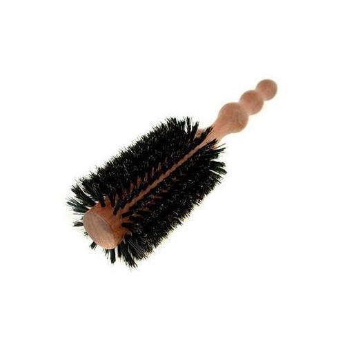 Large 65mm Round Brush (Polished Mahogany Handle, 65% Boar Bristle + 35% Nylon)  1pc