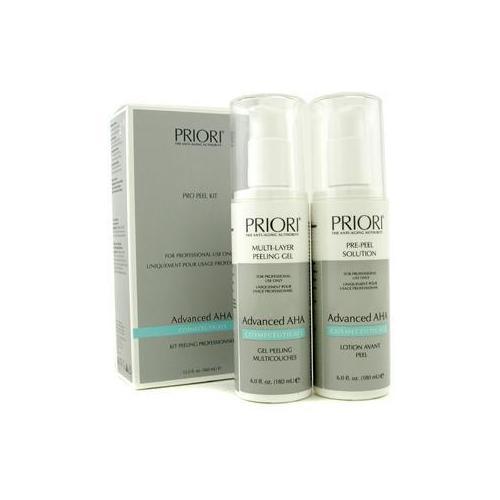 Advanced AHA PRO Peel Kit (Salon Product) : Pre-Peel Solution + Multi-Layer Peeling Gel 2x180ml/6oz