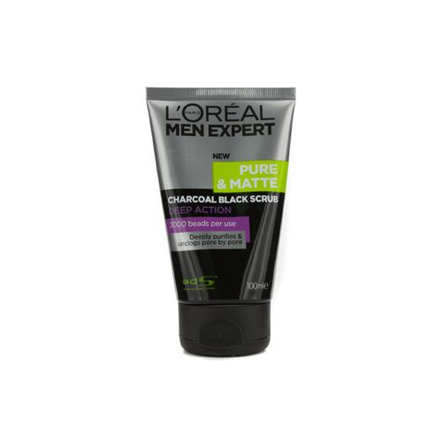 Men Expert Pure & Matte Charcoal Black Scrub  100ml/3.3oz