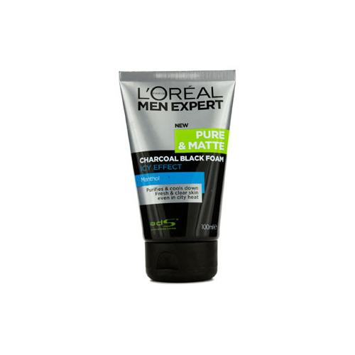 Men Expert Pure & Matte Icy Effect Charcoal Black Foam  100ml/3.4oz