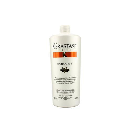 Nutritive Bain Satin 1 Exceptional Nutrition Shampoo (For Normal to Slightly Dry Hair)  1000ml/34oz