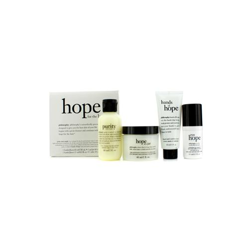 Hope for the Best Coffret: Cleasner 60ml/2oz + Mositurizer 60ml/2oz + Eye Cream 15ml/0.5oz + Hand Cream 30ml/1oz 4pcs