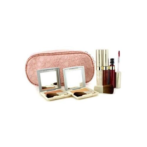 Cheek & Lip Makeup Set With Pink Cosmetic Bag (2xCheek Color, 3xMode Gloss, 1xBrush, 1xCosmetic Bag)  6pcs+1bag