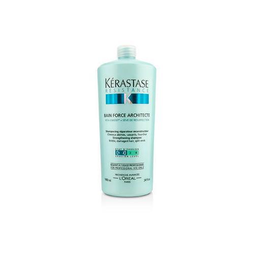 Resistance Bain Force Architecte Strengthening Shampoo (For Brittle, Damaged Hair, Split Ends)  1000ml/34oz