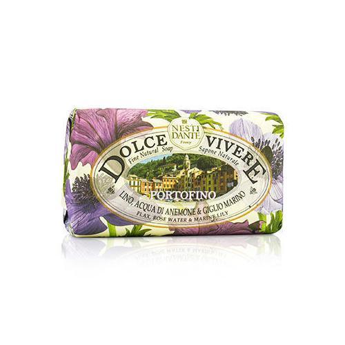 Dolce Vivere Fine Natural Soap - Portofino - Flax, Rose Water & Marine Lily 250g/8.8oz