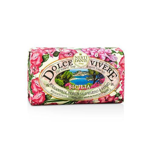 Dolce Vivere Fine Natural Soap - Sicilia - Bouganville, Marine Sea Salt & Papyrus Tree 250g/8.8oz