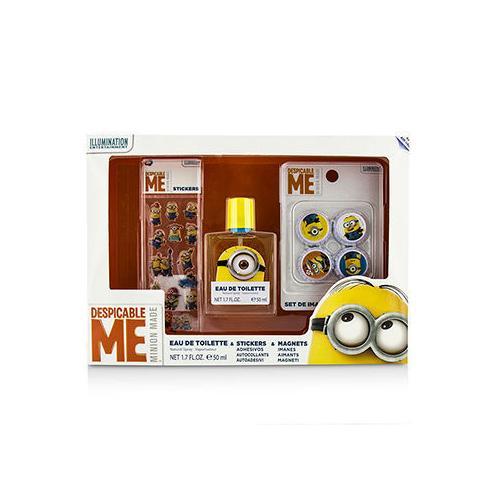 Minions Coffret: Eau De Toilette Spray 50ml/1.7oz + Magnets + Stickers  3pcs