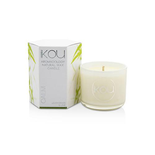 Eco-Luxury Aromacology Natural Wax Candle Glass - Calm (Lemongrass & Lime) (2x2) inch