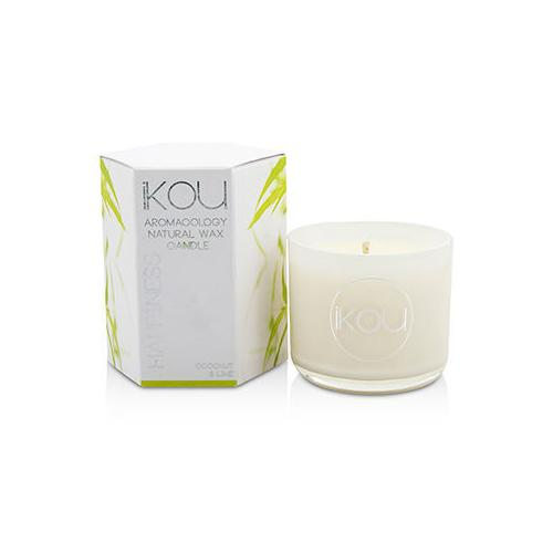 Eco-Luxury Aromacology Natural Wax Candle Glass - Happiness (Coconut & Lime) (2x2) inch