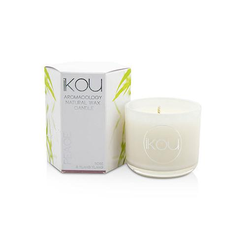 Eco-Luxury Aromacology Natural Wax Candle Glass - Peace (Rose & Ylang Ylang) (2x2) inch