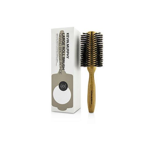 Large Roll.Brush - Round 70mm (Boar & Ionic Bristles, Sustainable Bamboo Handle)  1pc