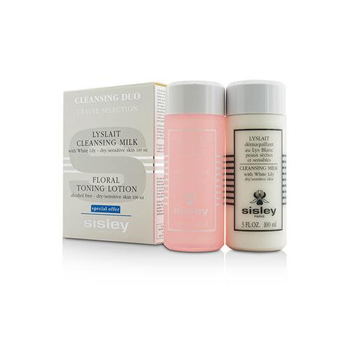 Cleansing Duo Travel Selection Set: Cleansing Milk w/ White Lily 100ml/3oz + Floral Toning Lotion 100ml/3oz  2pcs