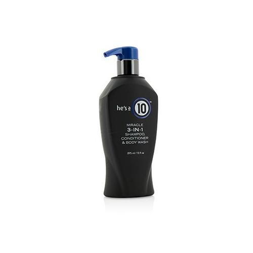 He's A 10 Miracle 3-In-1 Shampoo, Conditioner & Body Wash 295ml/10oz