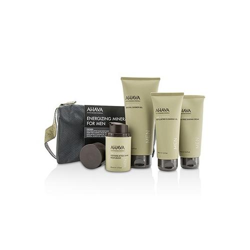 Energizing Minerals For Men Set: Exfoliating Cleansing Gel 100ml + After-Shave Moisturizer 50ml + Shaving Cream 100ml + Mineral Shower Gel 200ml 4pcs