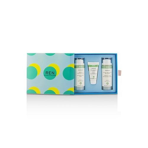 Evercalm Sensitive Skin Kit: 1x Gentle Cleansing Milk 50ml, 1x Anti-Redness Serum 10ml, 1x Global Protection Day Cream 50ml 3pcs