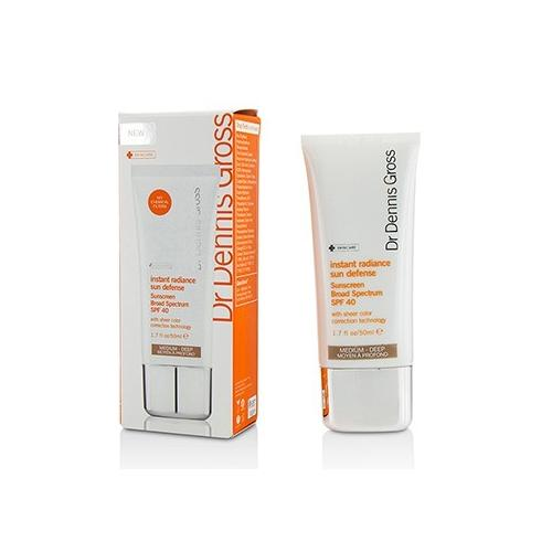 Instant Radiance Sun Defense Sunscreen Broad Spectrum SPF 40- Medium - Deep 50ml/1.7oz