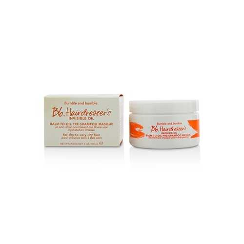 Bb. Hairdresser's Invisible Oil Balm-To-Oil Pre-Shampoo Masque (For Dry to Very Dry Hair)  100ml/3oz