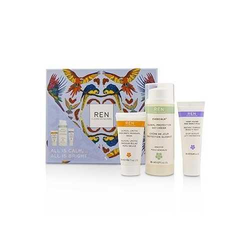 All Is Calm All Is Bright Set:  Day Cream 50ml + Mask 15ml + Firming Gel-Serum 10ml 3pcs