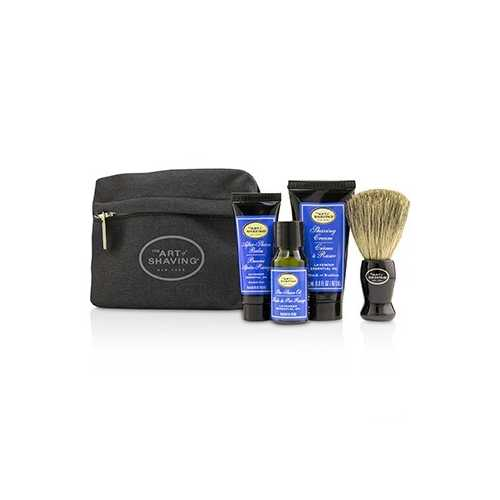 Starter Kit - Lavender: Pre Shave Oil + Shaving Cream + After Shave Balm + Brush + Bag  4pcs + 1 Bag