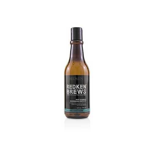 Brews Mint Shampoo (Invigorating For Hair and Scalp)  300ml/10.1oz