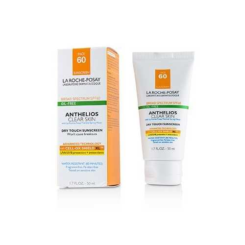 Anthelios Clear Skin Dry Touch Sunscreen For Face SPF 60 - Oil-Free  50ml/1.7oz