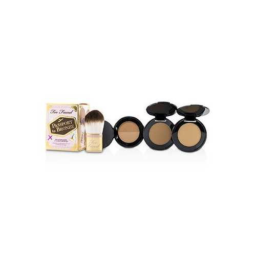 Passport To Bronze Deluxe Bronzers & Flatbuki Brush Set -