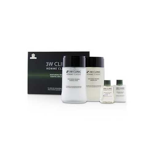 Homme Classic - Moisturizing Freshness Essential Skin Care Set: Essential Skin 150ml+30ml + Essential Lotion 150ml+30ml  4pcs