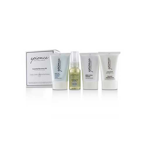 Essential Recovery Kit: Milky Lotion Cleanser 30ml+ Priming Oil 25ml+ Enriched Firming Mask 30g+ Renewal Calming Cream 30g 4pcs