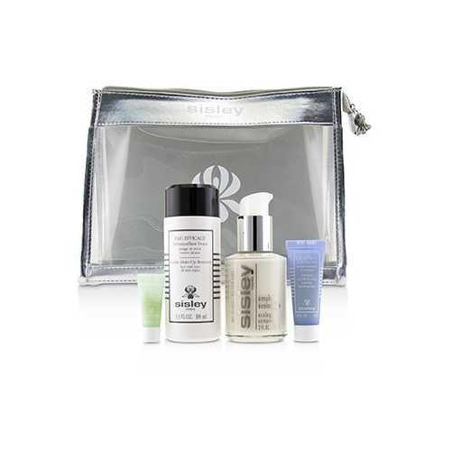 Week-End Must-Haves Set: Ecological Compound 60ml + Gentle Make-Up Remover 100ml + Express Flower Gel 10ml + Eye Contour Mask  4pcs+1bag