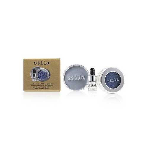 Magnificent Metals Foil Finish Eye Shadow With Mini Stay All Day Liquid Eye Primer - Metallic Cobalt  2pcs