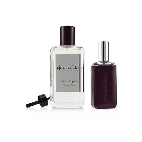 Musc Imperial Coffret: Cologne Absolue Spray 100ml/3.3oz + Cologne Absolue Refillable Spray 30ml/1oz + Leather Case  3pcs