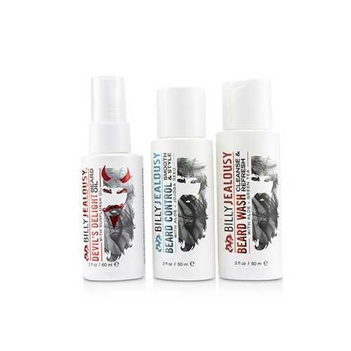 Wicked Beard Care Trio Set : 1x Beard Wash 60ml + 1x Beard Control 60ml + 1x Beard Oil 60ml  3pcs