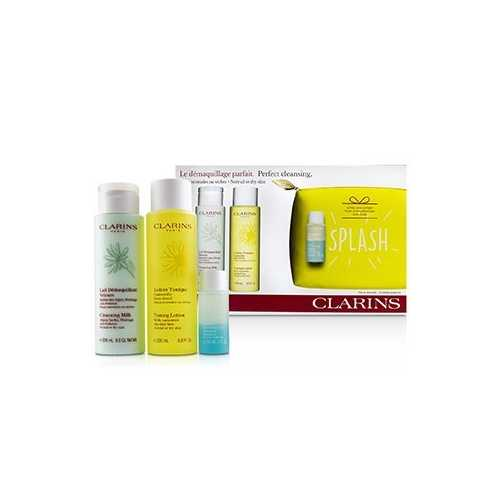 Perfect Cleansing Set (Normal or Dry Skin): Cleansing Milk 200ml+ Toning Lotion 200ml+ Eye Make-Up Remover 30ml+ Bag  3pcs+1bag