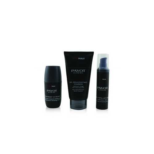 Optimale Energising Ritual For Men Set : 1x Facial Cleanser 150ml + 1x Wrinkle Smoothing Fluid 50ml + 1x 24 Hrs Roll-On 75ml  3pcs
