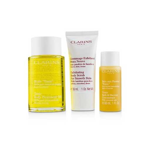 Home Pampering Set: Tonic Body Treatment Oil 100ml+ Exfoliating Body Scrub 30ml+ Tonic Bath & Shower Concentrate 30ml  3pcs