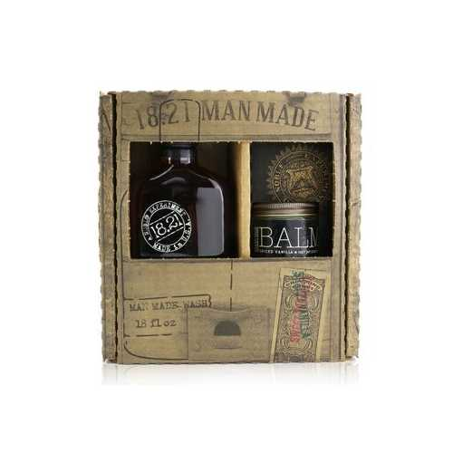 Man Made Wash & Balm Set - # Spiced Vanilla: 1x Shampoo, Conditioner & Body Wash 530ml + 1x Beard Balm 56.7g  2pcs