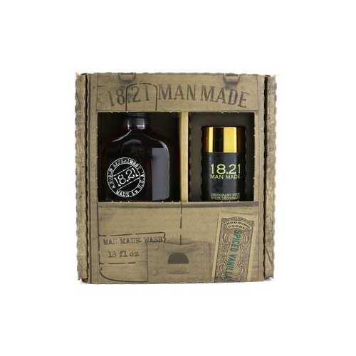 Man Made Wash & Deodorant Set - # Spiced Vanilla: 1x Shampoo, Conditioner & Body Wash 530ml + 1x Deodorant Stick 75g  2pcs