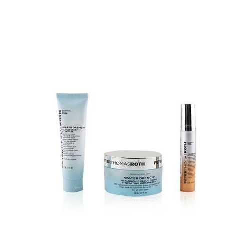 Hydration Glow-Up Kit: 1x Water Drench Cleanser 30ml + 1x Water Drench Moisturizer 50ml + 1x Potent-C Power Serum 10ml  3pcs