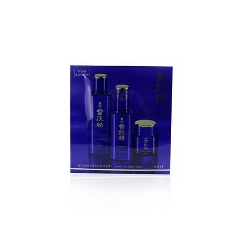 Sekkisei Excellent Kit I: Lotion Excellent 200ml + Emulsion Excellent 140ml + Cream Excellent 50g  3pcs