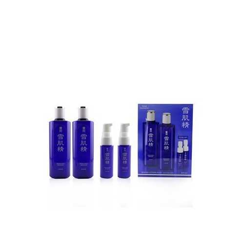 Medicated Sekkisei Lotion Duo Set: 2x Medicated Sekkisei 360ml + 2x Sekkisei Emulsion 20ml  4pcs