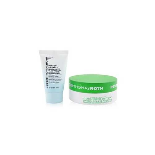 Drench & De-Tox 2-Piece Kit: Hydrating Moisturizer 20ml + Cucumber Eye Patches 15pairs  2pcs