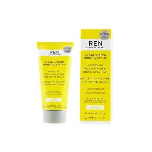 Clean Essentials Clean Sreen Mineral SPF 30 Mattifying Face Sunscreen Broad Spectrum (High Protection)  50ml/1.7oz