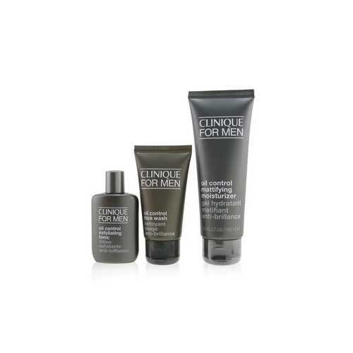 Great Skin For Men Oil Control 3-Pieces Set : Face Wash 50ml +  Exfoliating Tonic 30ml + Mattifying Moisturizer 100ml  3pcs
