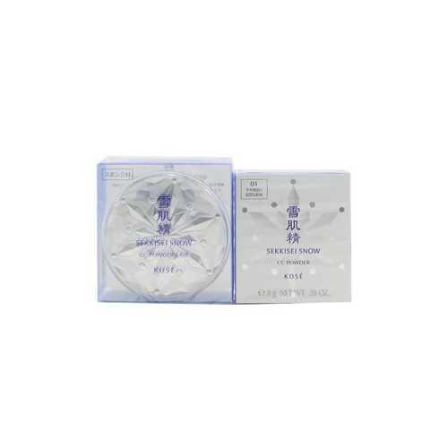 Sekkisei Snow CC Powder SPF14 (Case + Refill) - # 01 Moderately Light (Natural Tone)  8g/0.28oz