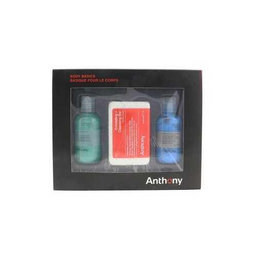 Body Basics Kit: Invigorating Rush Hair+Body Wash 100ml + Exfoliating + Cleansing Bar 198g + Blue Sea kelp Body Scrub 100ml  3pcs
